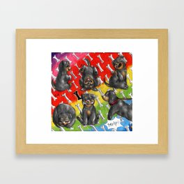 Chibi dog breeds - Rottweiler Framed Art Print