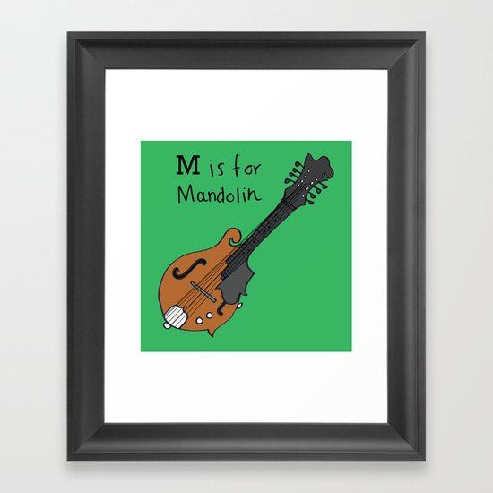 M is for Mandolin Framed Art Print