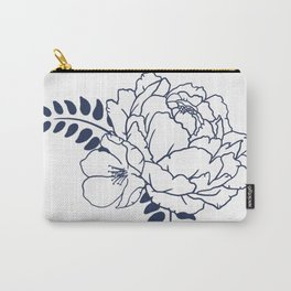 Dark blue peony Carry-All Pouch