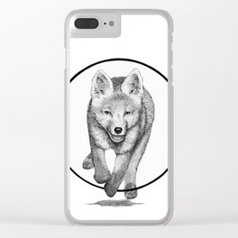 The Fox Running - Animal Drawing Series Clear iPhone Case