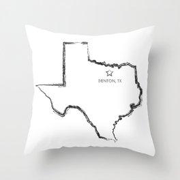 Denton, TX Throw Pillow