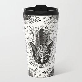 Hamsa Hand – Black & Grey Palette Travel Mug