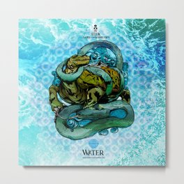 Mysticx & Magick - The Elementals: Genbu, The Water Tortoise of the Northern Tides Metal Print
