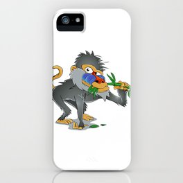 Baboon eating bamboo     iPhone Case