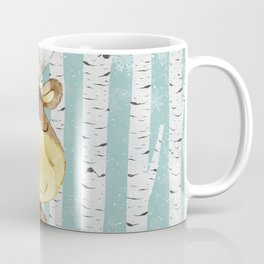 Winter Woodland Friends Deer Moose Snowy Forest Illustration Coffee Mug