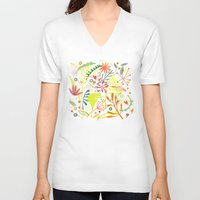 tropical V-neck T-shirts featuring Tropical by Nic Squirrell