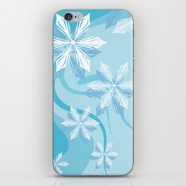 Winter Flower Christmas Abstract iPhone Skin
