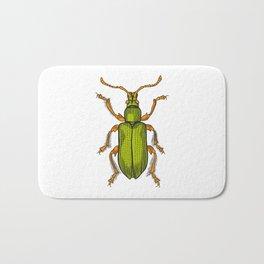 Shiny green beetle Bath Mat