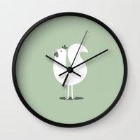 chicken Wall Clocks featuring CHICKEN by Seokhyun Shim