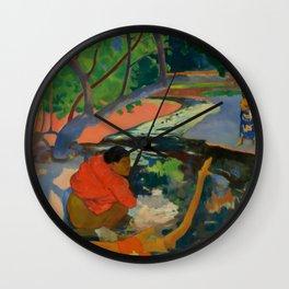 "Paul Gauguin ""Te Poipoi (Le matin - The morning)"" Wall Clock"