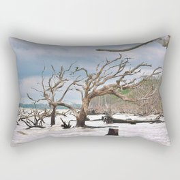Drift Wood Beach 4 Rectangular Pillow