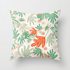 Tropical Abstract Pattern Throw Pillow