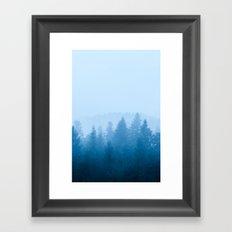 Fog over forest Framed Art Print