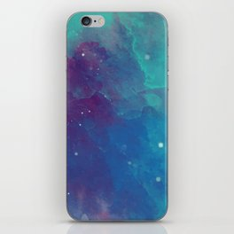 Watercolor night sky iPhone Skin