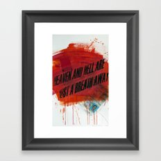 HEAVEN&HELL2 Framed Art Print