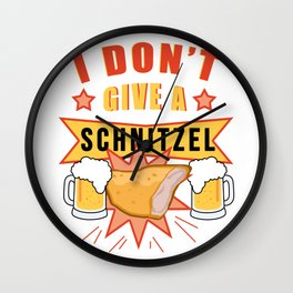 I don't give a Schnitzel - FUNNY OKTOBERFEST Drinking Team Wall Clock