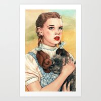 kansas Art Prints featuring I Don't Think We're In Kansas Anymore by Helen Green