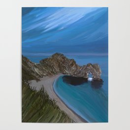 Evening Landscape of the Durdle Door, UK Poster