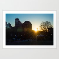 Boston Sunset 2/16 Art Print