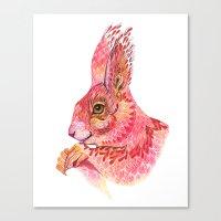 squirrel Canvas Prints featuring The squirrel magic  by Ola Liola