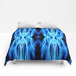Electric Blue Abstract Comforters