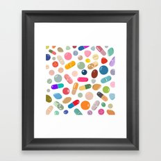 Sunny Pills Framed Art Print