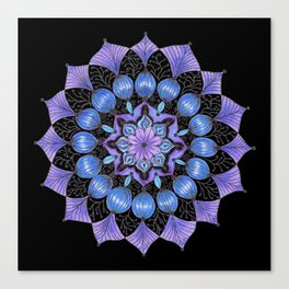 Rhapsodala in Blue (black background) Canvas Print