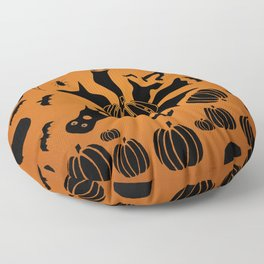 Zombie Black Cat Bat Spider Ghost Pumpkin Floor Pillow