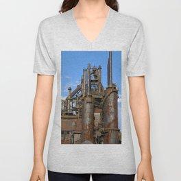 Bethlehem Steel Blast Furnace 3 Unisex V-Neck