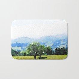 Fantastic Landscape, Austria 09,watercolor painting Bath Mat