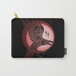 Vikings crow of death - RED Carry-All Pouch