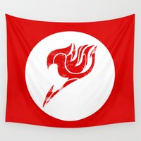 fairy tail Wall Tapestries featuring Fairy Tail Segmented Logo circle by JoshBeck