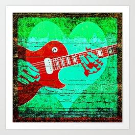 Guitar Love Art Print