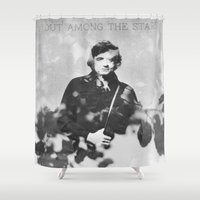 johnny cash Shower Curtains featuring johnny cash by monicamarcov