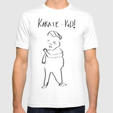 Karate Comic Mens Fitted Tee White MEDIUM