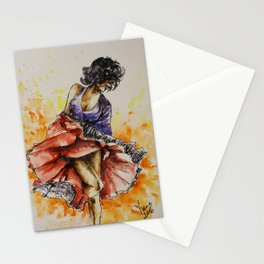 Salsa dancer Stationery Cards