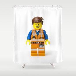 Emmet Minifig Shower Curtain