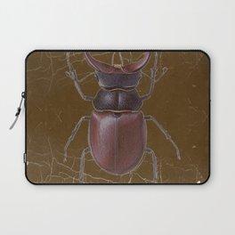 ANTIQUE STAG-HORNED BEETLE BROWN ART Laptop Sleeve