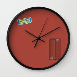 Batteries Not Included ~ Medium Carmine Wall Clock