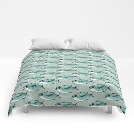 Shoal of bluefin tuna Comforters