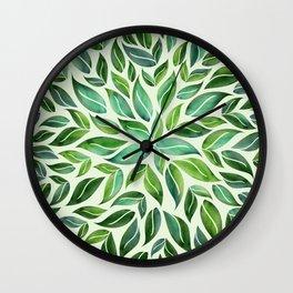 Spring Leaf Mandala Wall Clock