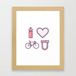 I ♥ 2 Ride U (Color Option) Framed Art Print