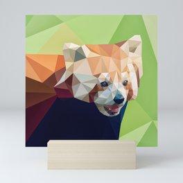 Geometric red panda Mini Art Print