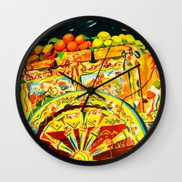 Sicily Italy Vintage Travel Ad Wall Clock