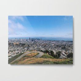 Bay Area View from the Peaks Metal Print