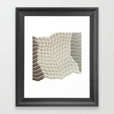 Wicker waves Framed Art Print