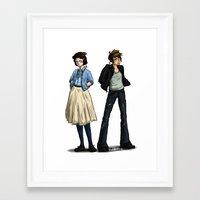 50s Framed Art Prints featuring 50s Ladies by SamKatDiz