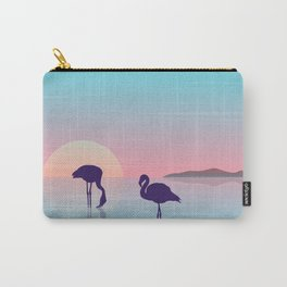Flamingo Silhouette Beauty Art Carry-All Pouch