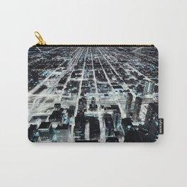 City Skyline Chicago Sci-Fi Futuristic Cityscape Art Print Carry-All Pouch