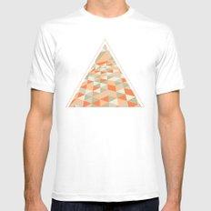 Triangulation White MEDIUM Mens Fitted Tee